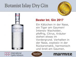 Bester Internationaler Gin 2017