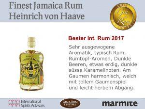 Bester Internationaler Rum 2017