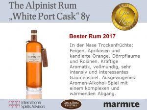 Bester Rum 2017